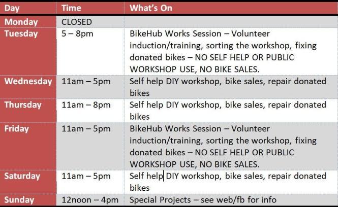New Schedule Aug 2014